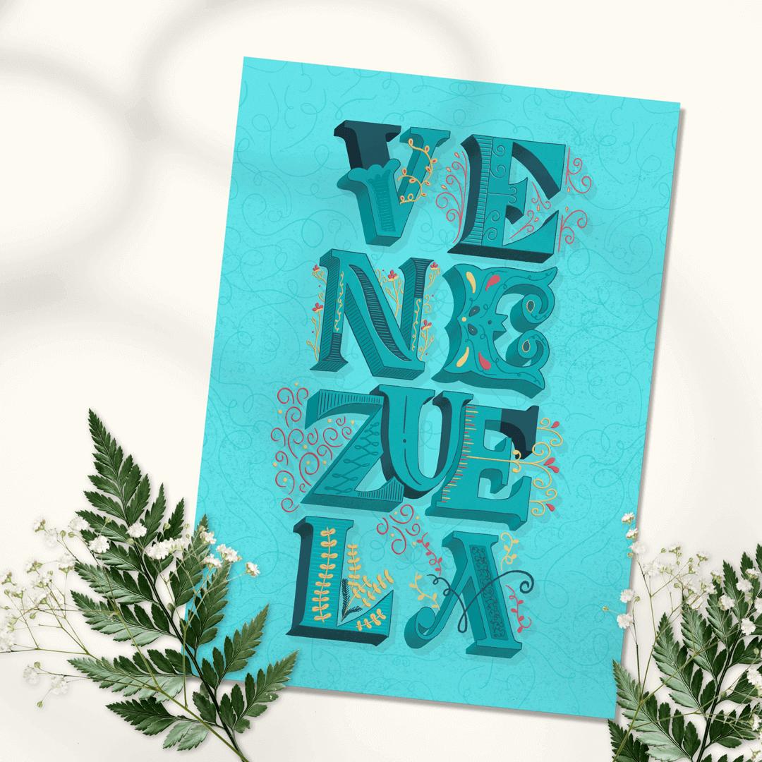 Venezuela-art-lettering-ibelis-garzon-card